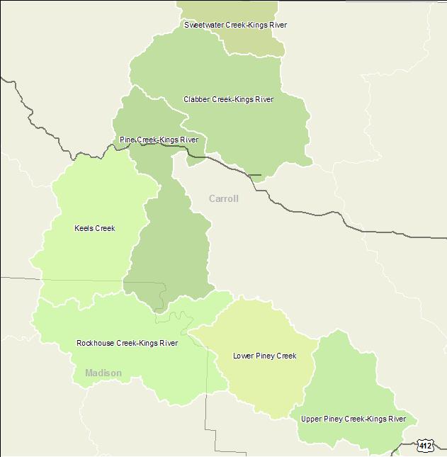 Arkansas Watershed Information System 10 Digit 1101000111