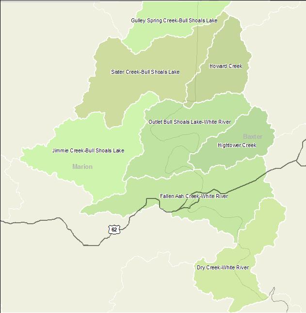 Arkansas Watershed Information System - 10-Digit: 1101000311