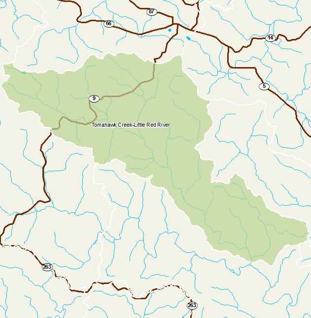 Little Red River Arkansas Map.Arkansas Watershed Information System 12 Digit 110100140502