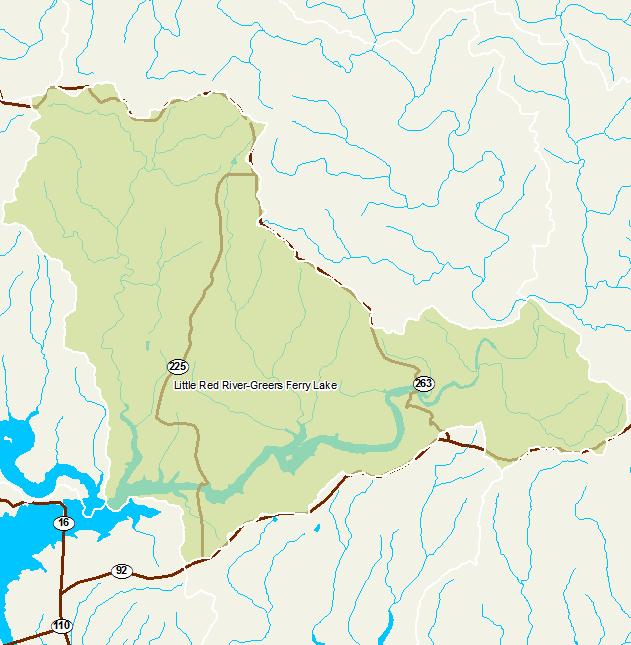 Little Red River Arkansas Map.Arkansas Watershed Information System 12 Digit 110100140506