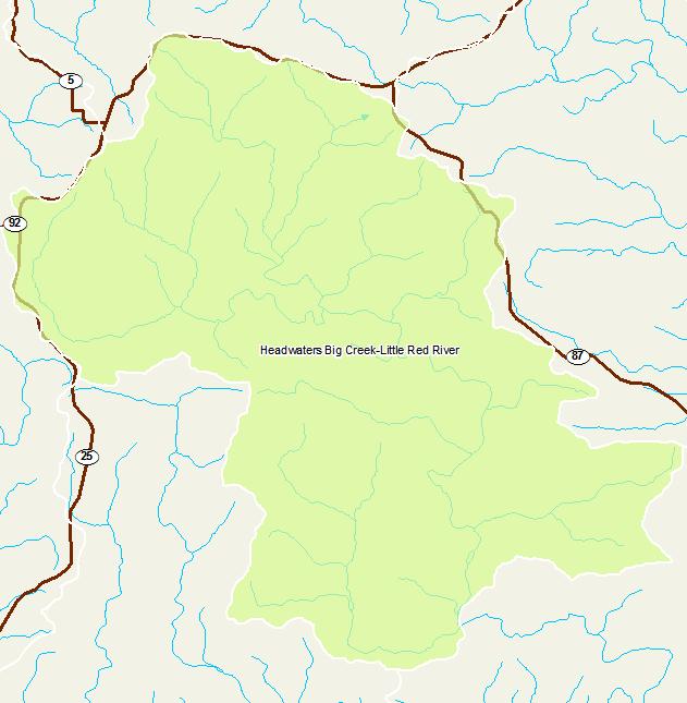 Little Red River Arkansas Map.Arkansas Watershed Information System 12 Digit 110100140702
