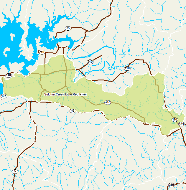 Little Red River Arkansas Map.Arkansas Watershed Information System 12 Digit 110100140704
